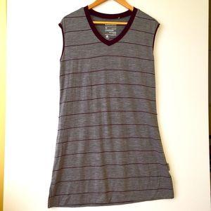 KATHMANDU 💯% merino tunic sz 16 marle grey stripe